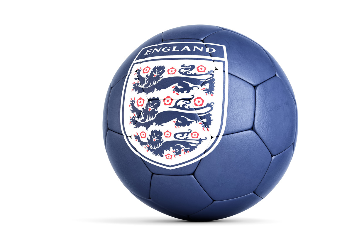 Soccer ball with The Football Association logo. 3D illustration. Contains clipping path - slon.pics - free stock photos and illustrations
