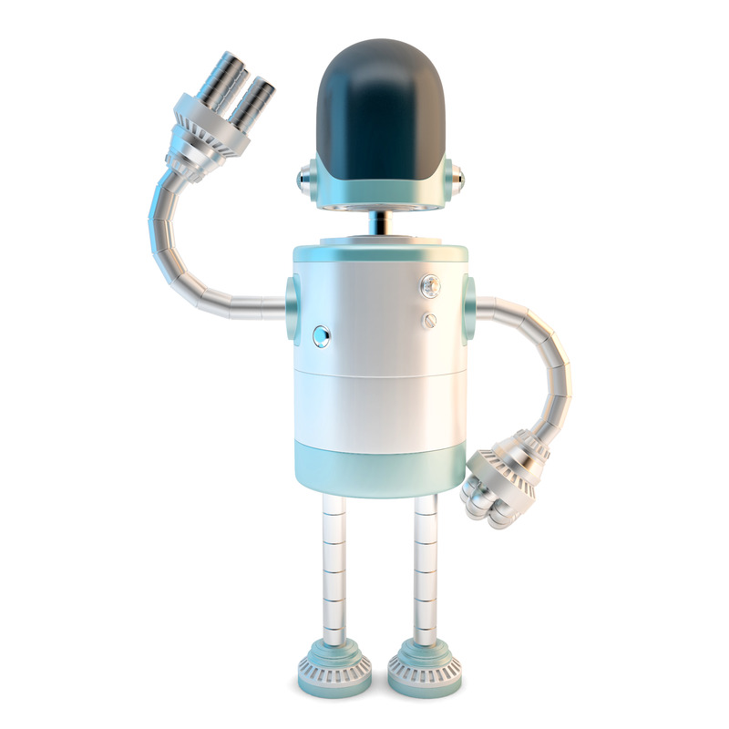 Waving robot. 3D illustration. Isolated. Contains clipping path - slon.pics - free stock photos and illustrations