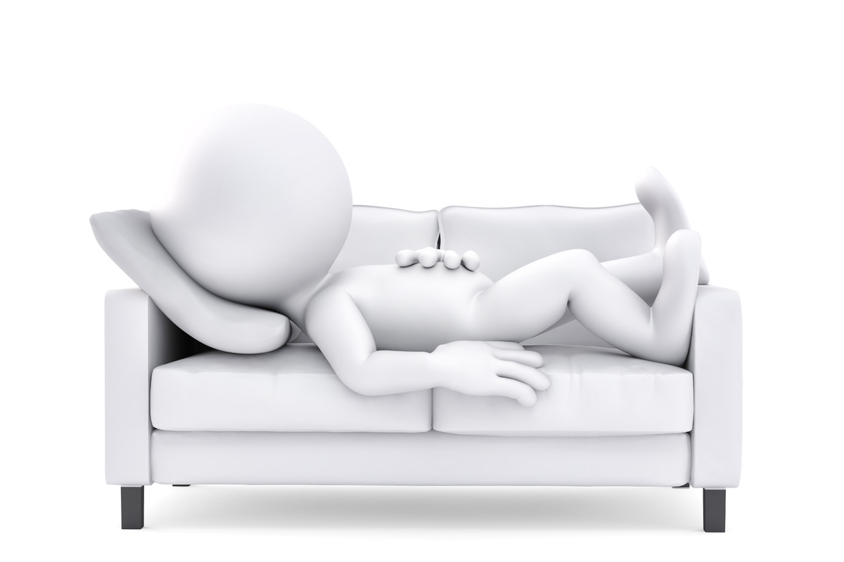 3d man man relaxing on couch - slon.pics - free stock photos and illustrations