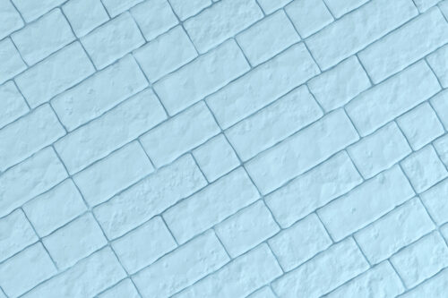 A light blue brick wall. 3D illustration - slon.pics - free stock photos and illustrations