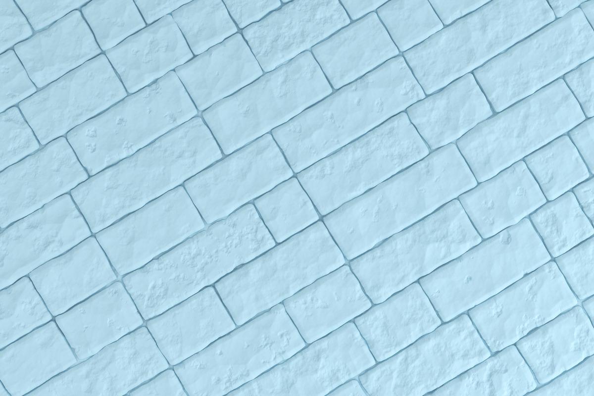 A light blue brick wall. 3D illustration - slon.pics - free stock photos and illustrations