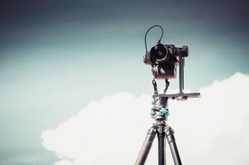 DSLR Camera on a tripod with panoramic head - slon.pics - free stock photos and illustrations