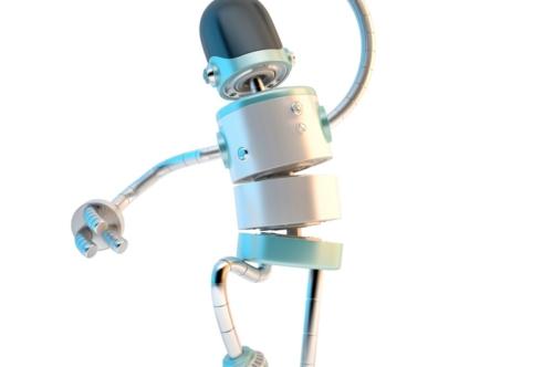 Happy jumping robot - slon.pics - free stock photos and illustrations