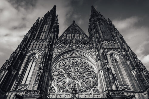 Saint Vitus Cathedral facade, Prague Castle, Czech Republic - slon.pics - free stock photos and illustrations
