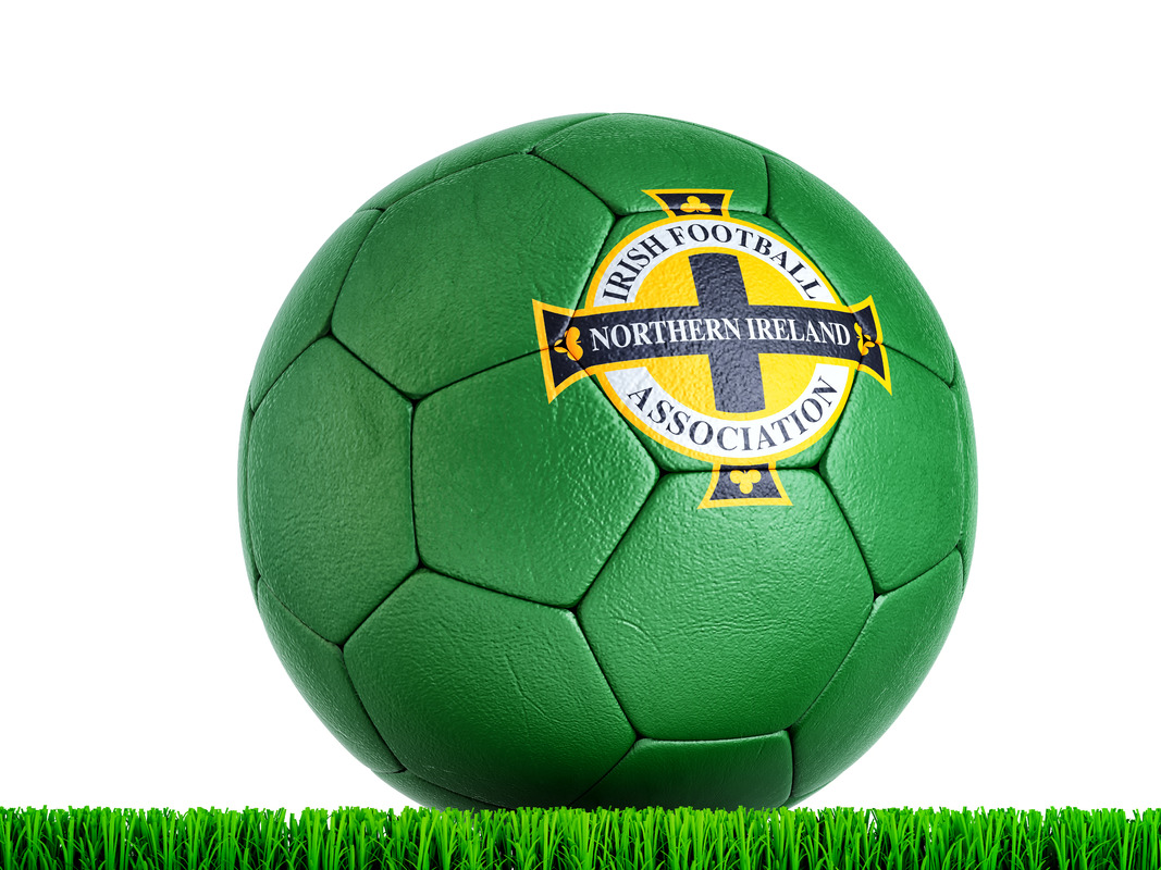 Soccer ball with Northern Ireland National Football Association logo - slon.pics - free stock photos and illustrations