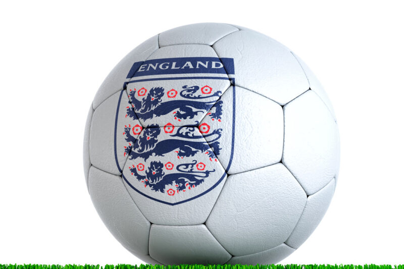 Soccer ball with The Football Association logo - slon.pics - free stock photos and illustrations