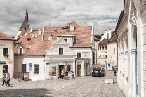 View of Kaplicka street. Cesky Krumlov - slon.pics - free stock photos and illustrations