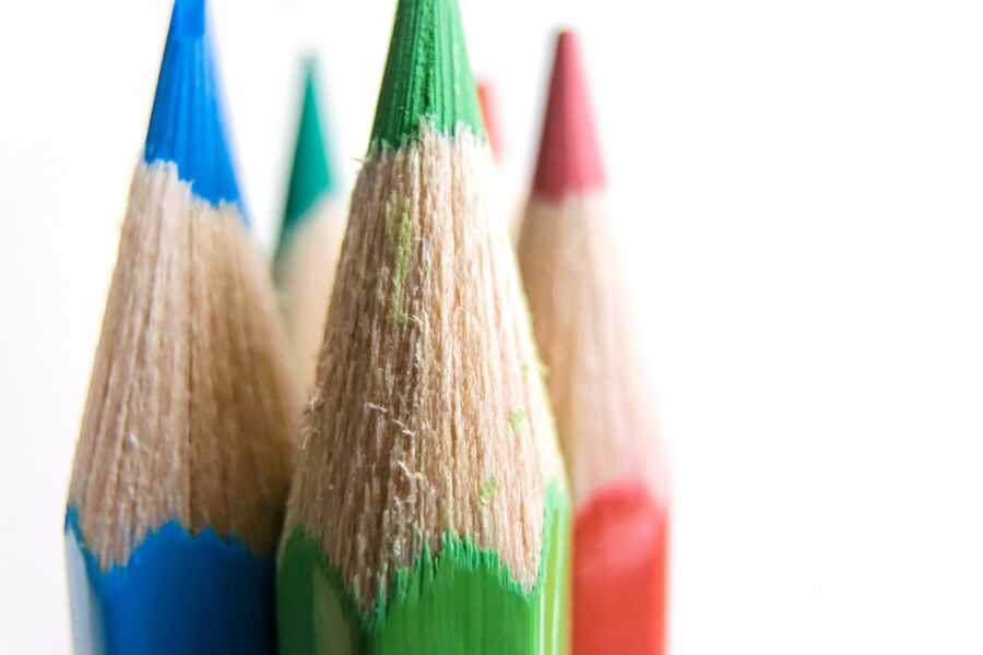 Colorful pencils close-up - slon.pics - free stock photos and illustrations