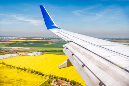 Countryside landscapes seen from an airplane - slon.pics - free stock photos and illustrations
