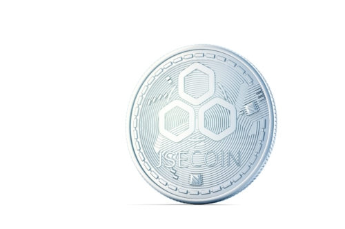 JSECoin. 3D illustration. Isolated. Contains clipping path - slon.pics - free stock photos and illustrations