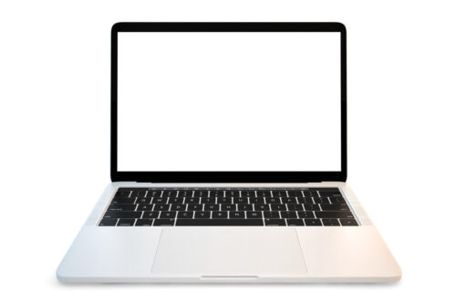 Laptop with blank screen - slon.pics - free stock photos and illustrations
