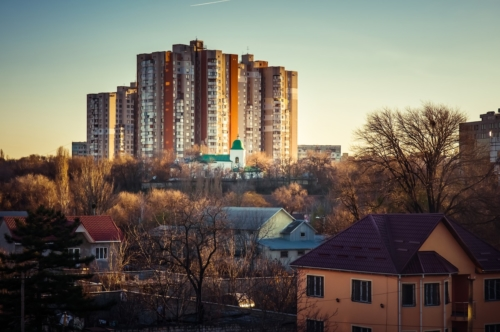 Residential buildings at Albisoara street - slon.pics - free stock photos and illustrations
