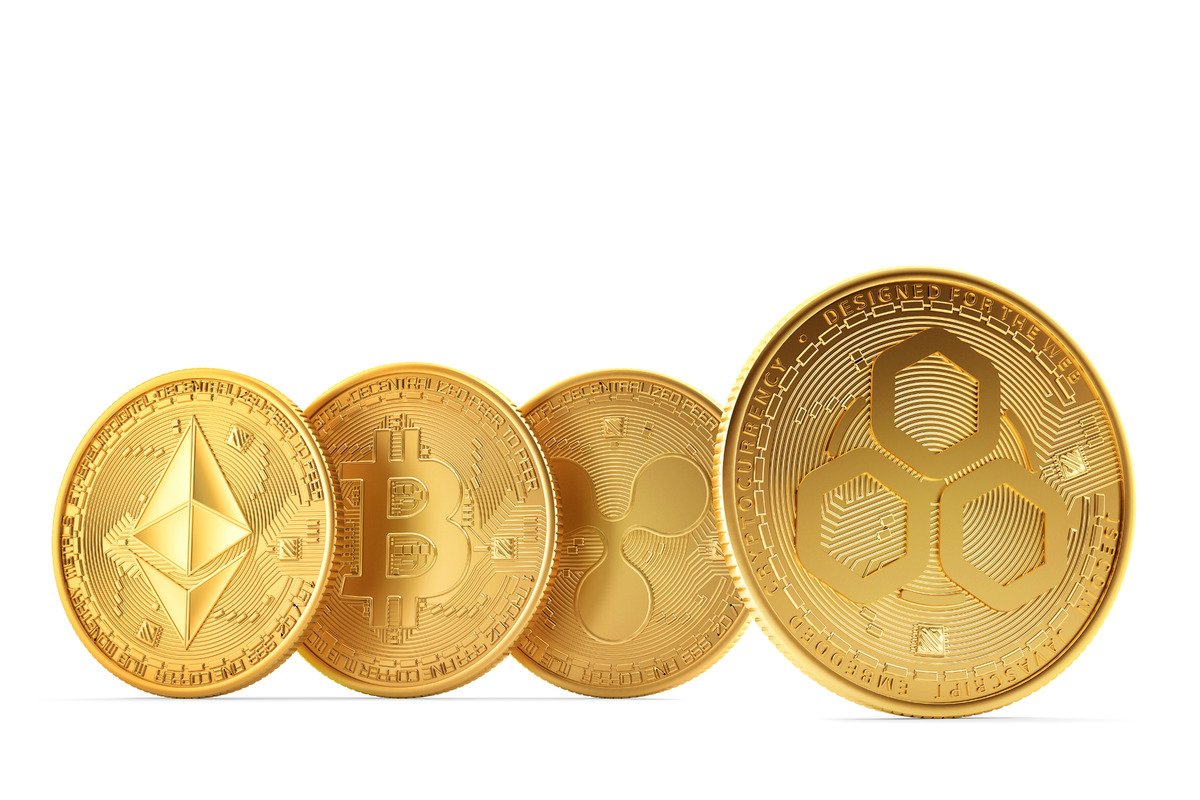 Set of cryptocurrencies - slon.pics - free stock photos and illustrations