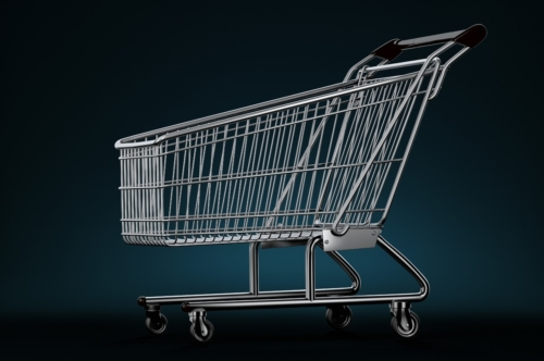 Shopping cart. 3D illustration. Contains clipping path - slon.pics - free stock photos and illustrations