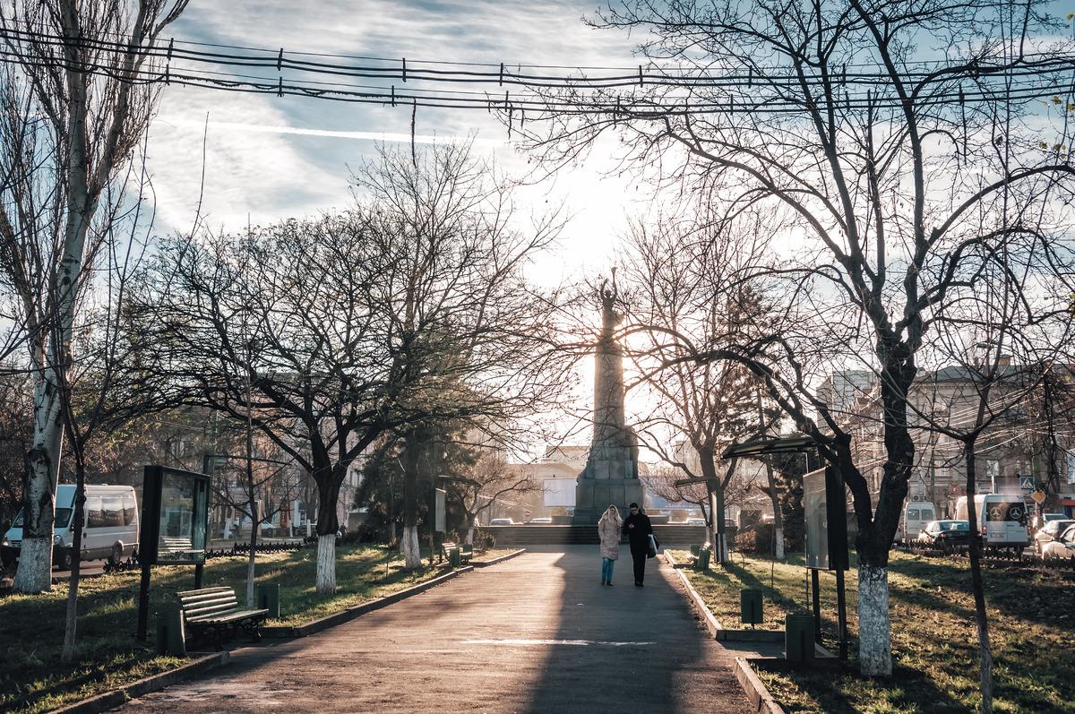 View of Grigore Vieru boulevard. Chisinau, Moldova - slon.pics - free stock photos and illustrations