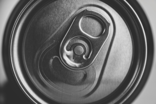 Close-up of an aluminium can - slon.pics - free stock photos and illustrations