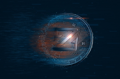 Digital ZCoin coin. Cryptocurrency concept - slon.pics - free stock photos and illustrations