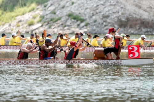 Dragon boat crews compete at the championships - slon.pics - free stock photos and illustrations