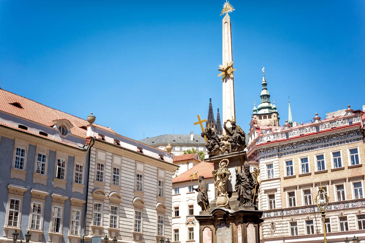 Holy Trinity Column. Lesser Town, Prague - slon.pics - free stock photos and illustrations