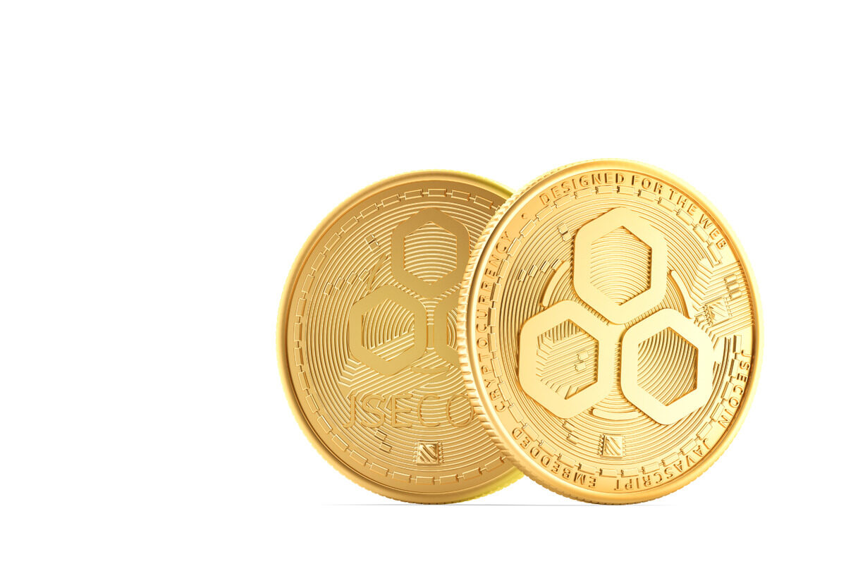JSE coins. 3D illustration. Isolated - slon.pics - free stock photos and illustrations