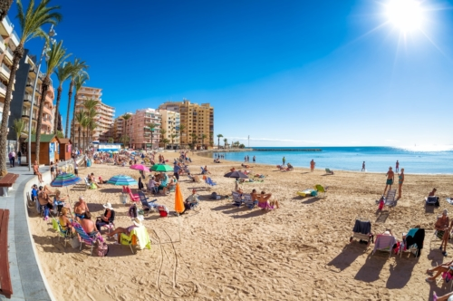 Panorama of the beach of Playa Del Cura. Torrevieja - slon.pics - free stock photos and illustrations