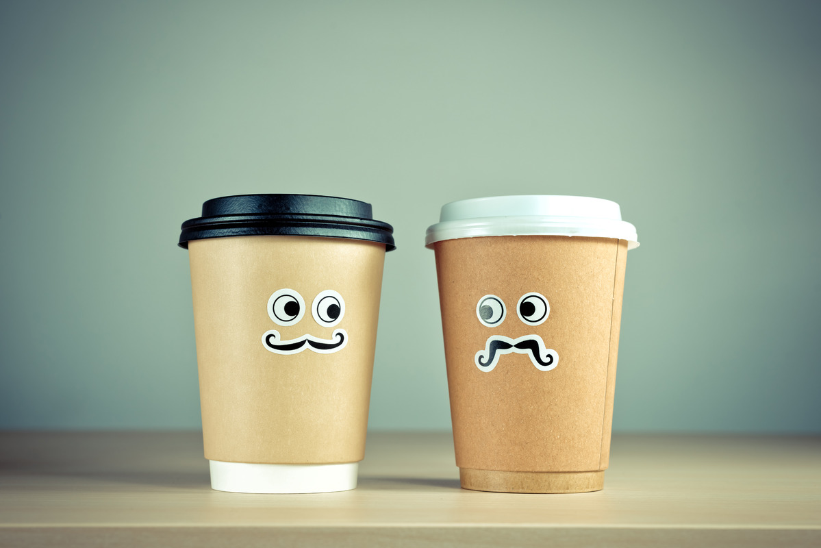 Take away coffee cup characters - slon.pics - free stock photos and illustrations