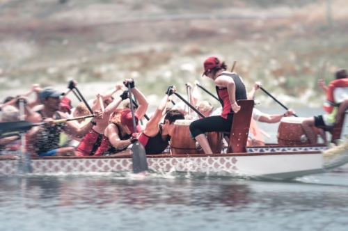 Unidentified team competes at dragon boat races - slon.pics - free stock photos and illustrations