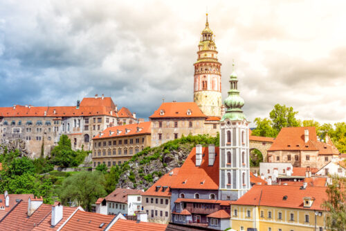 View of old Town Cesky Krumlov castle - slon.pics - free stock photos and illustrations
