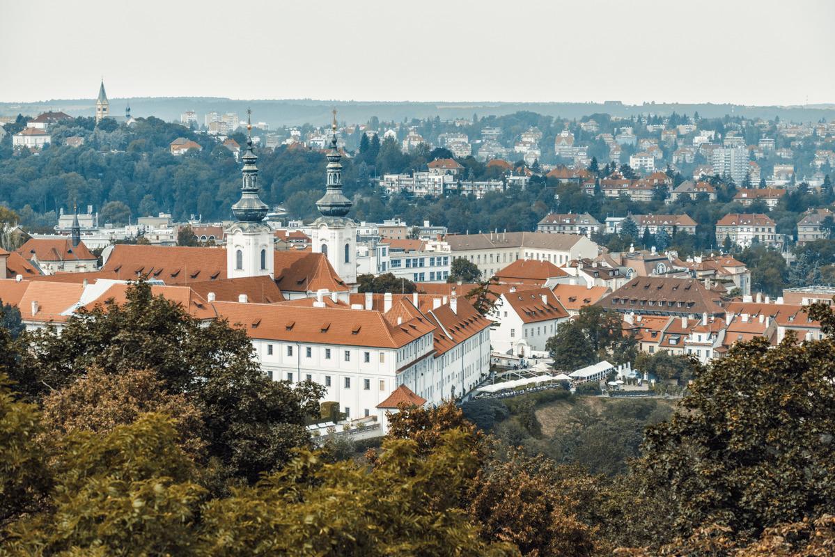 Elevated view of Strahov Monastery. Prague, Czech Republic - slon.pics - free stock photos and illustrations