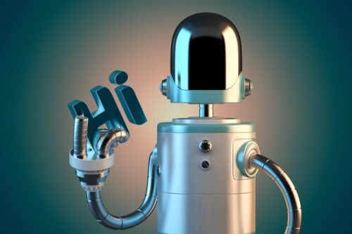 Friendly robot. 3D illustration. Isolated. Contains clipping path - slon.pics - free stock photos and illustrations