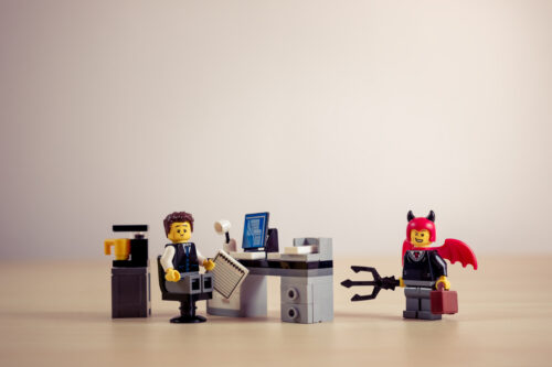 Frightened office worker - slon.pics - free stock photos and illustrations