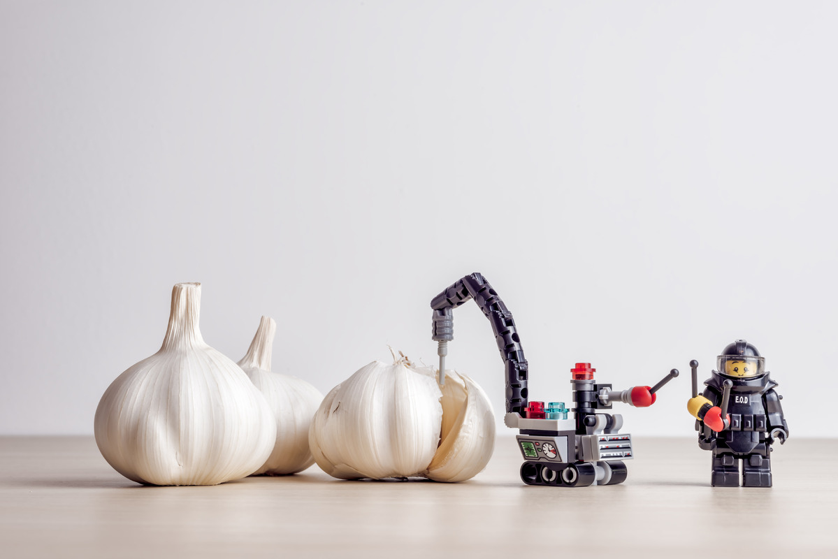 Garlic peeling concept - slon.pics - free stock photos and illustrations