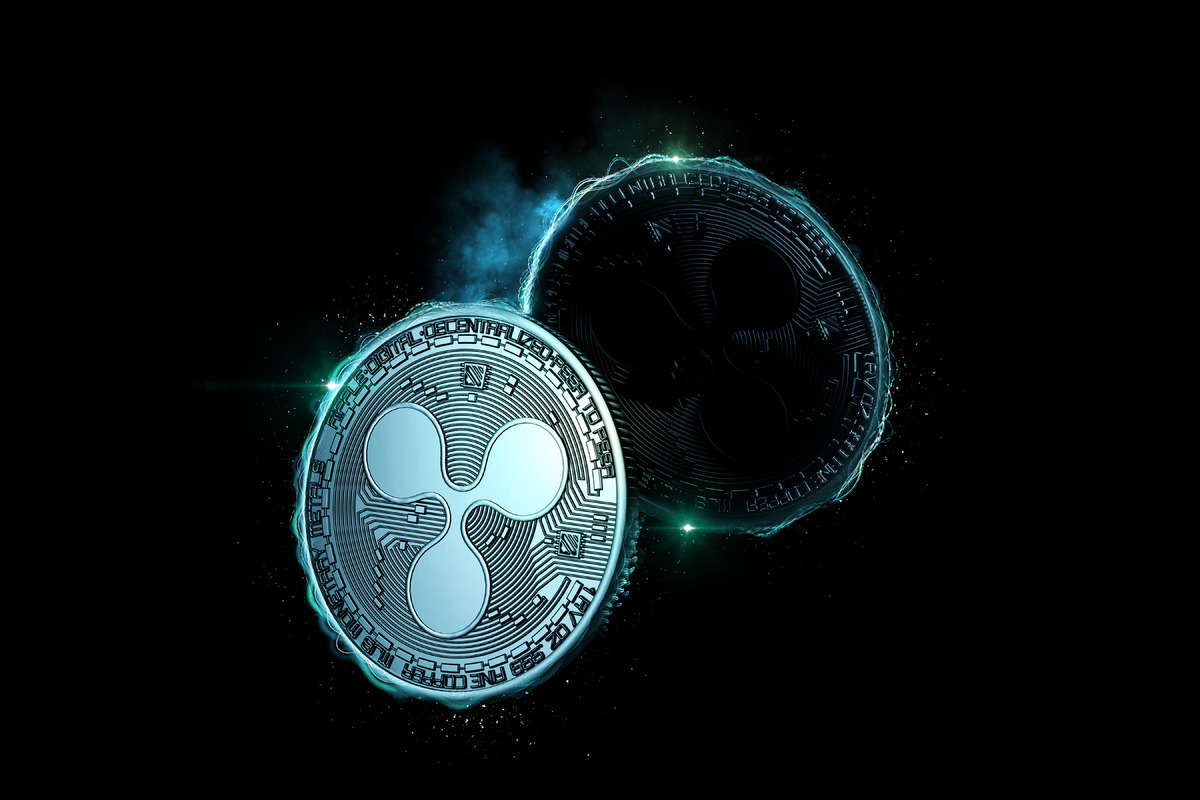 Glowing Ripple (XRP) coin - slon.pics - free stock photos and illustrations