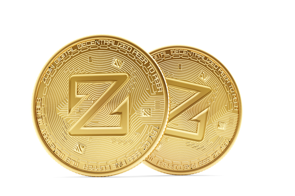 Golden ZCoin coins - slon.pics - free stock photos and illustrations
