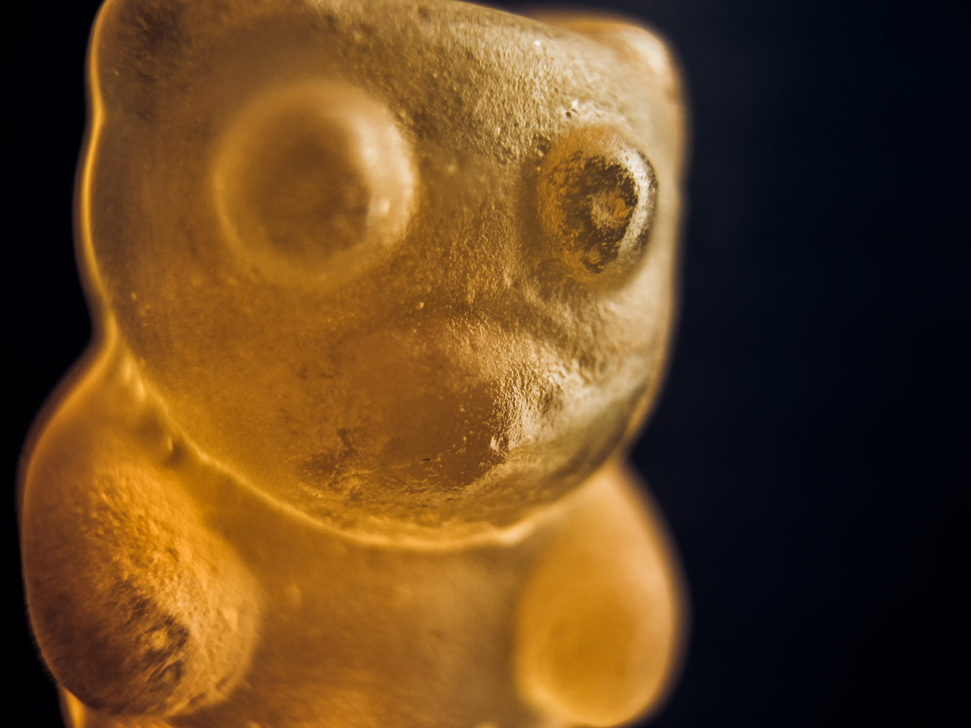 Gummy bear. Macro - slon.pics - free stock photos and illustrations