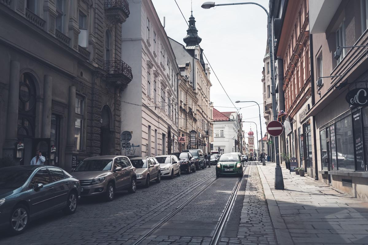 Zbrojnicka street. Plzen - slon.pics - free stock photos and illustrations