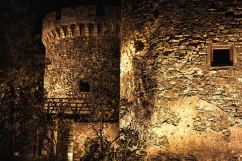 Belgrade Fortress at night - slon.pics - free stock photos and illustrations