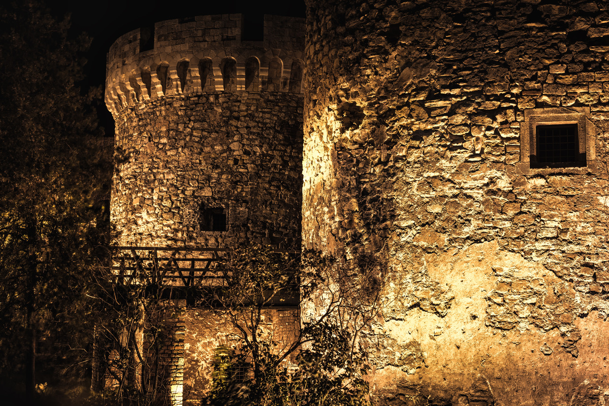 Belgrade Fortress at night - slon.pics - free stock photos and illustrations