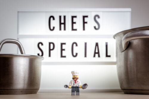 Cheerful miniature chef. Chef's special concept - slon.pics - free stock photos and illustrations