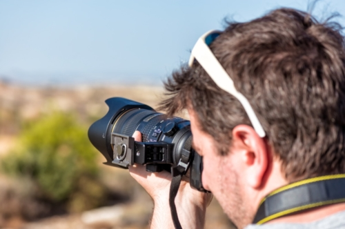 Close up of a photographer - slon.pics - free stock photos and illustrations