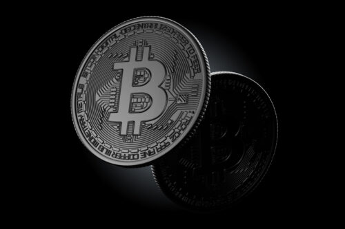 Dark Bitcoin coins - slon.pics - free stock photos and illustrations