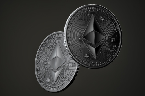Dark Ethereum coins - slon.pics - free stock photos and illustrations