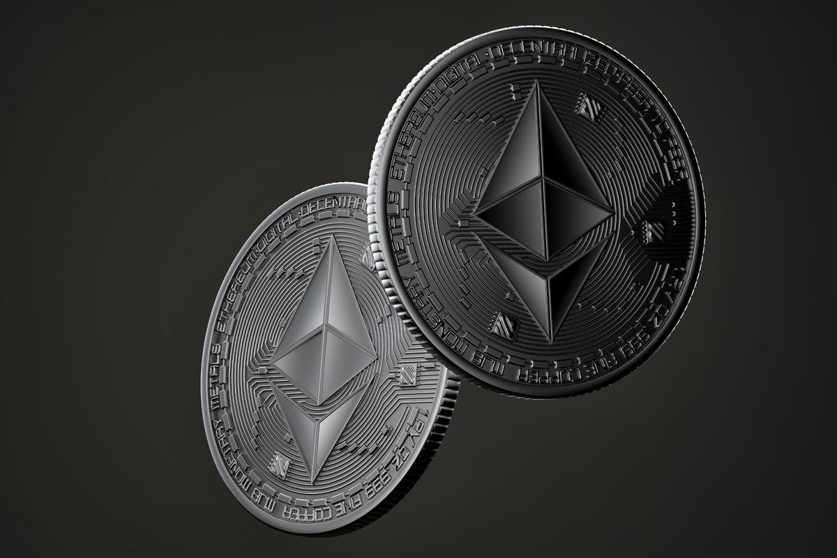 Dark Ethereum coins - slon.pics - free stock photos and illustrations