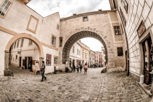 Historic old town of Cesky Krumlov. Czech Republic - slon.pics - free stock photos and illustrations