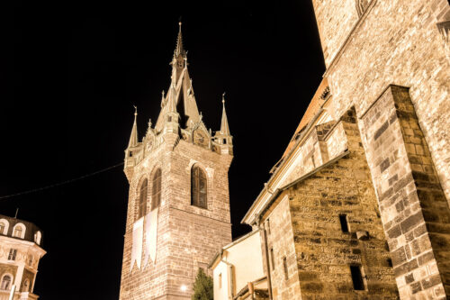 Jindrisska Tower. Late Gothic tower, a part of the Church of St Henry and St Kunhuta - slon.pics - free stock photos and illustrations
