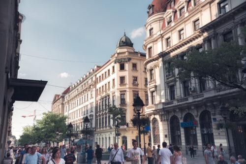 Knez Mihailova, pedestrian street in central Belgrade - slon.pics - free stock photos and illustrations