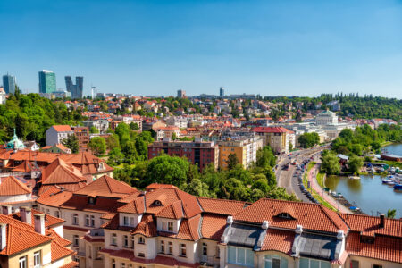 Panorama of Prague on a sunny day. Czech Republic - slon.pics - free stock photos and illustrations