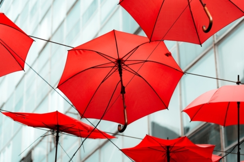 Red umbrellas - slon.pics - free stock photos and illustrations