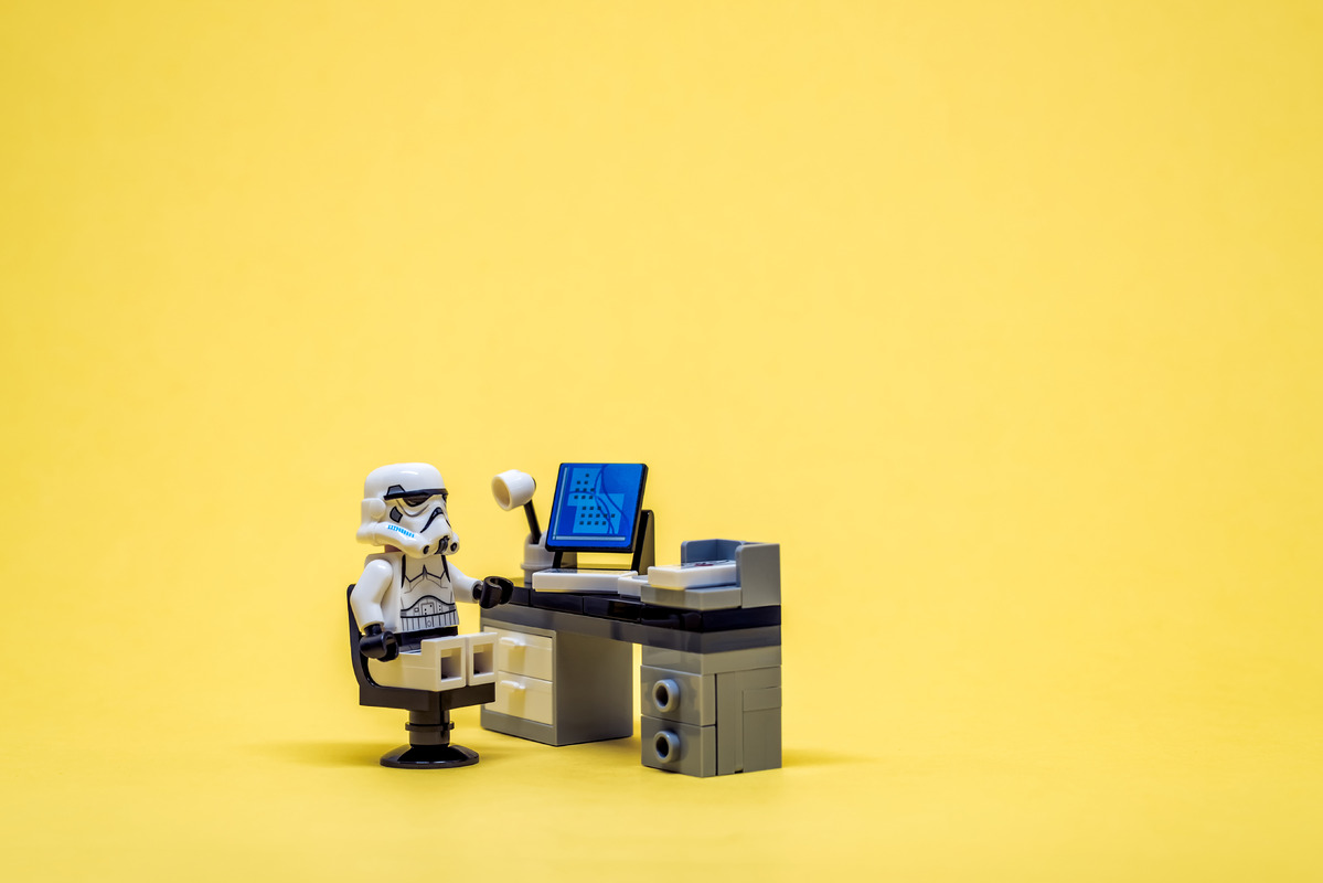 Stormtrooper at his workplace - slon.pics - free stock photos and illustrations