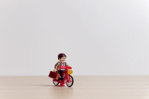To work by bike - slon.pics - free stock photos and illustrations